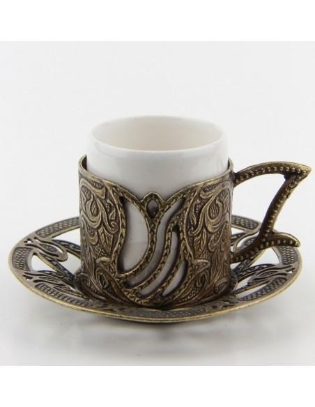 Verre à thé et café turque double rouge