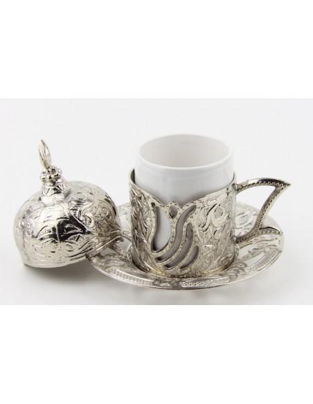 Bronze Turkish tea and coffee glass double