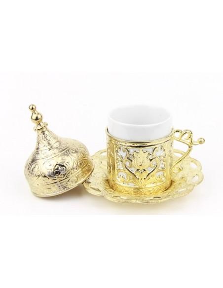 Verre à thé et café turque double noir