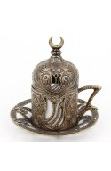Family Turkish tea and coffee service red