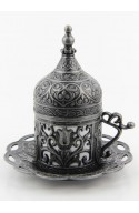 Family Turkish tea and coffee service gold