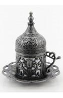 Service à thé et café turque familiale doré