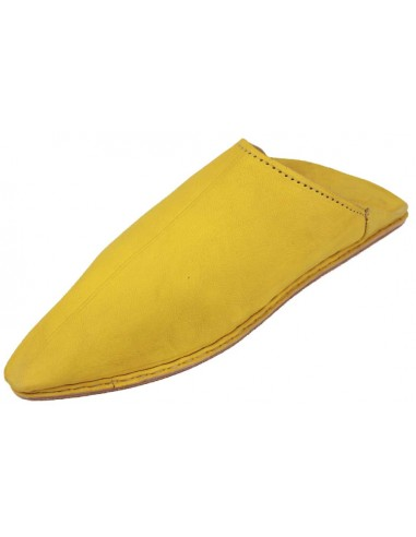Babouche pointed plain yellow
