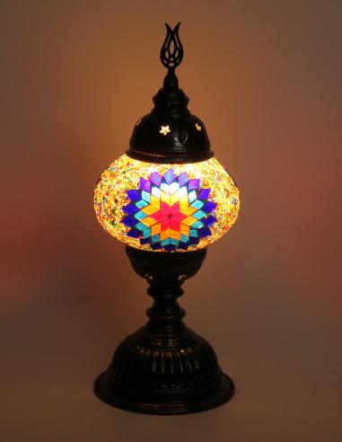 Lampe de table turque petite verte...
