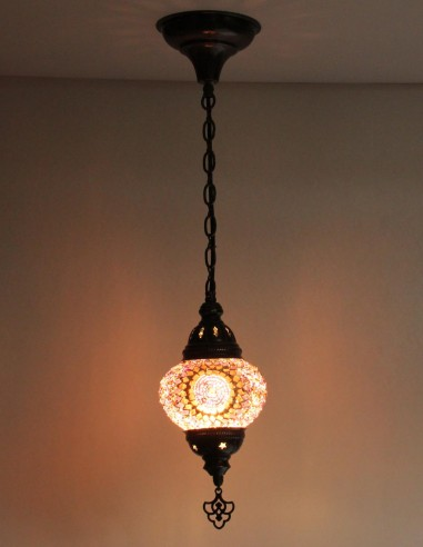 Lampe suspendue mauve B2
