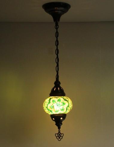 Lampe suspendue verte B2