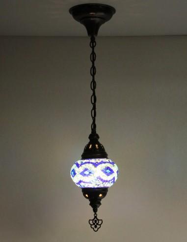 Hanging lamp blue B2