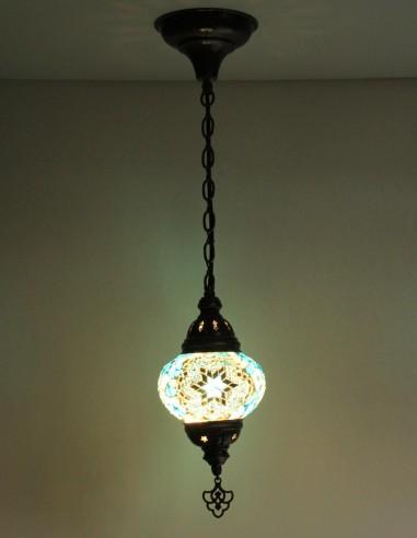 Lampe suspendue turquoise B2
