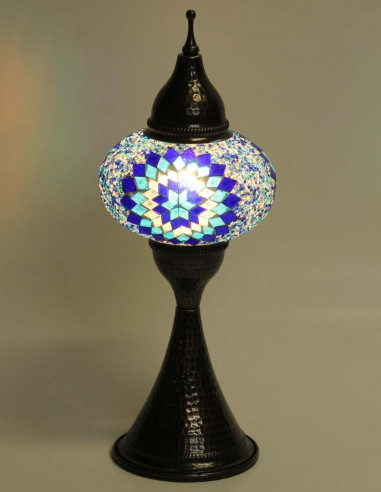 Lampe de table Bleue DOV3