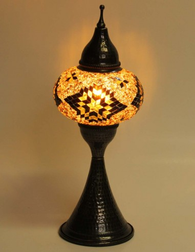Lampe de table brune DOV3
