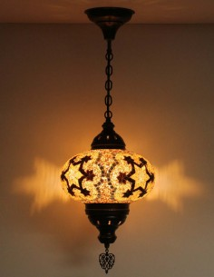 Hanging lamp brown B4