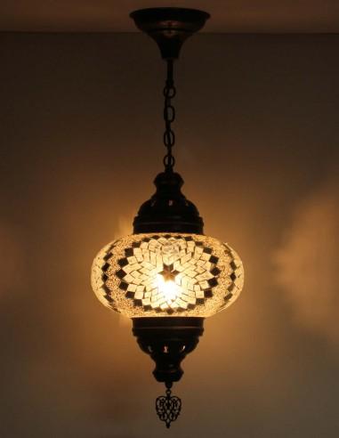 Hanging lamp brown B4