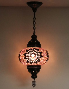 Lampe suspendue mauve B4
