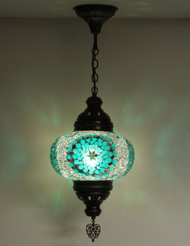 Lampe suspendue turquoise B4