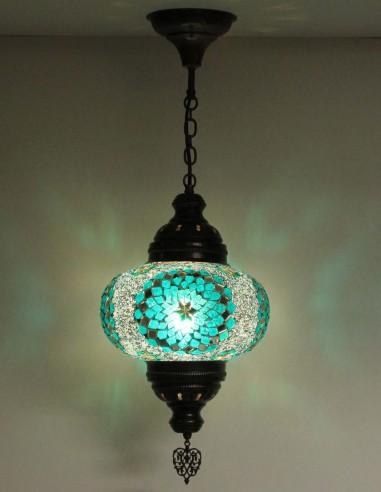 Hanging lamp turquoise B4