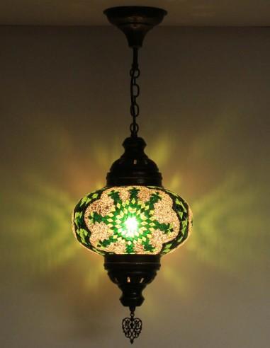 Lampe suspendue verte B4