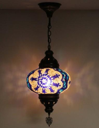 Hanging lamp blue B4