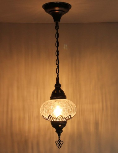 Blown glass hanging lamp B3