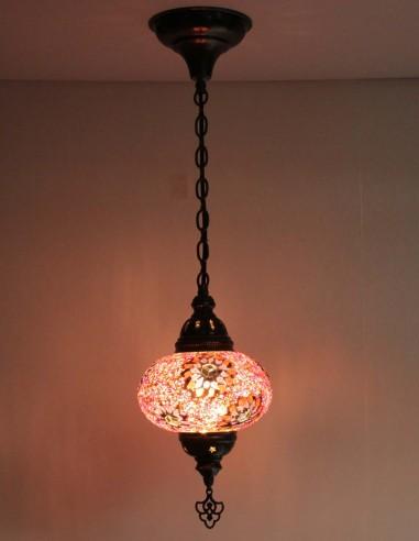 Lampe suspendue mauve B3