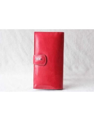 Portefeuille en cuir rouge sans motif