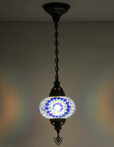 Hanging lamp blue B3