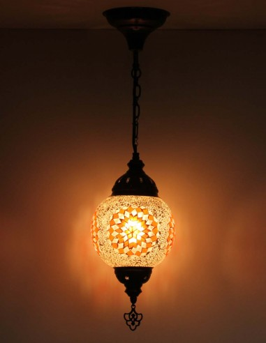 Hanging lamp brune T15