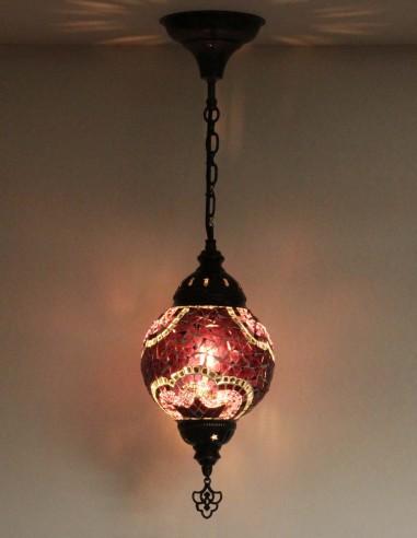 Lampe suspendue mauve T15