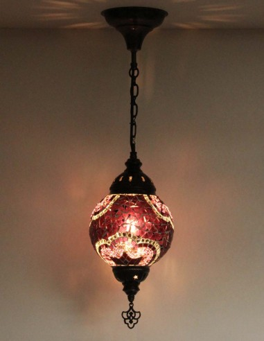 Hanging lamp purple T15