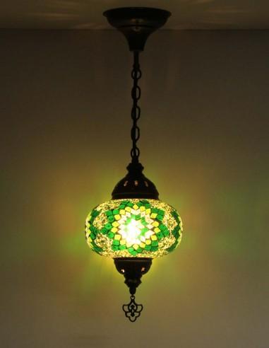 Lampe suspendue verte B3,5
