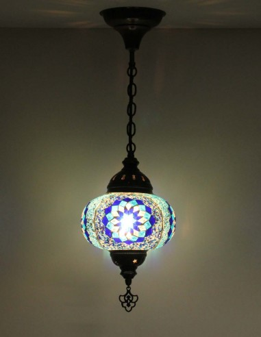 Hanging lamp blue B3,5