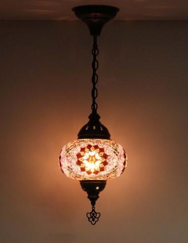 Lampe suspendue mauve B3,5