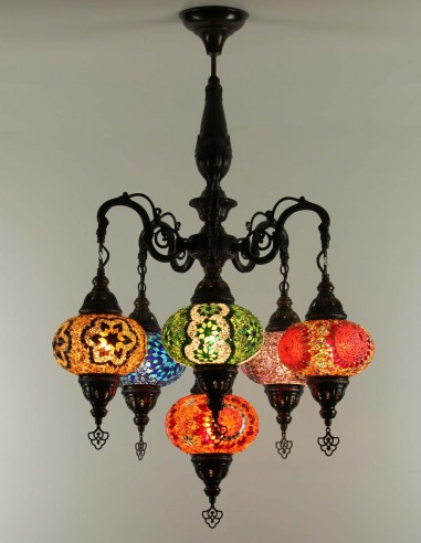 Glass mosaic chandelier ESRA