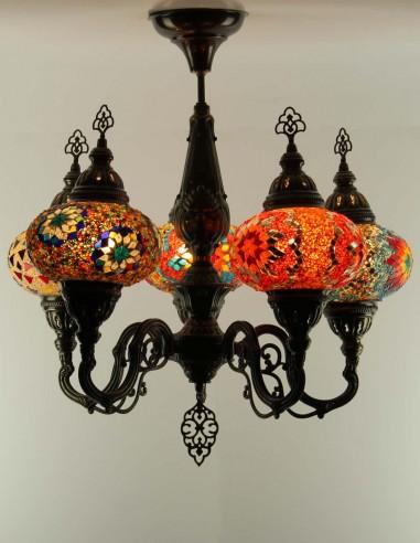 Glass mosaic chandelier RITEJ