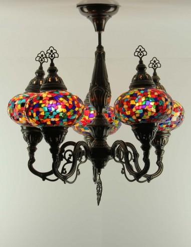 Glass mosaic chandelier THARA