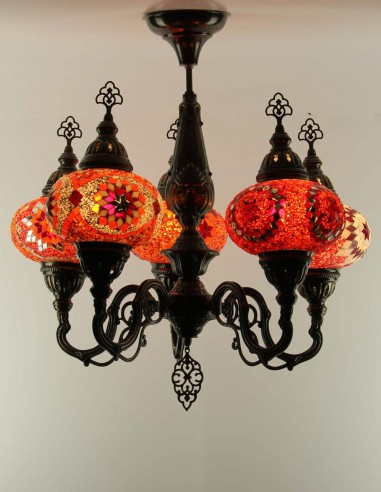 Lustre en mosaïque de verre AMIRA