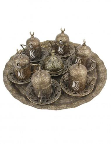 Family Turkish tea and coffee service...