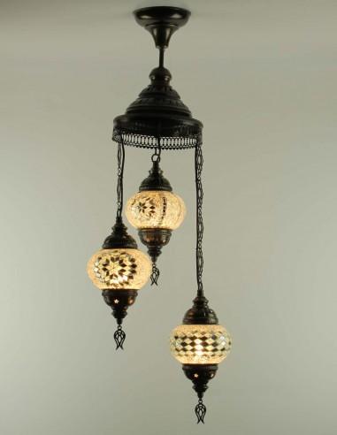 Spiral chandelier 3pc white