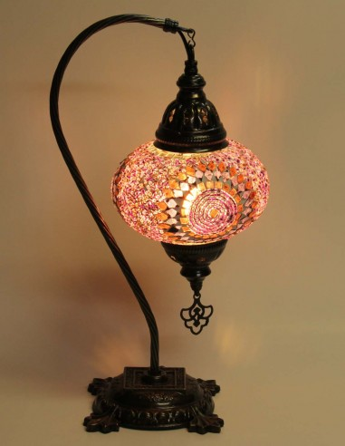 Table lamp purple DB3