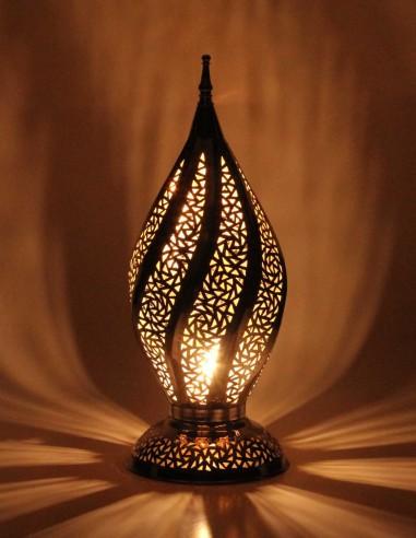lampe marocaine ajourée argenté Mabrouma