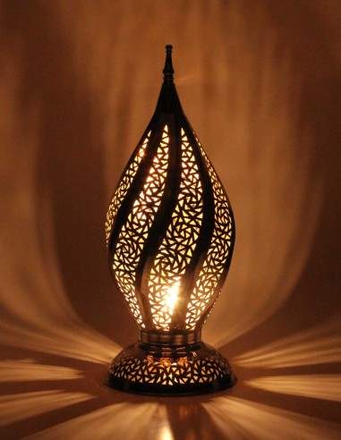 Silver openwork Moroccan table lamp...