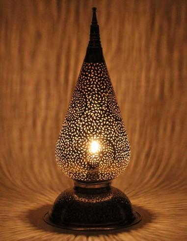 Lampe marocaine ajourée argentée...
