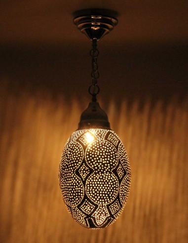 Silver openwork Moroccan chandelier Egg