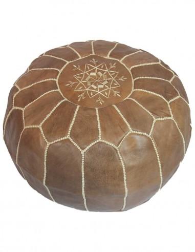 Moroccan ottoman Parachute brown
