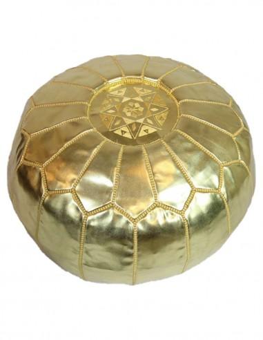 Moroccan ottoman Parachute gold