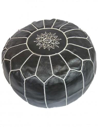 Pouf parachute marocain noir