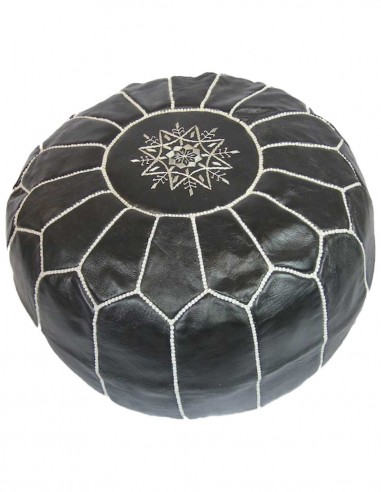 Moroccan ottoman Parachute black