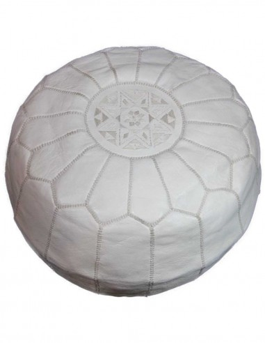 Pouf parachute marocain blanc