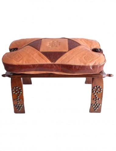 Banc en bois et cuir