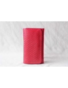 Portefeuille en cuir rouge moyen motif 1