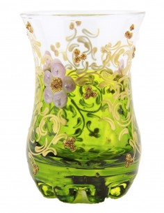 Tea glass pattern 1 green